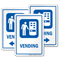 Vending Machine Sign with Symbol