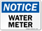 Water Meter OSHA Notice Sign