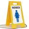 Women W/Graphic Fold-Ups® Floor Sign
