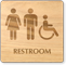 Men, Women And Accessible Symbol Wooden Restroom Sign
