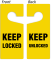 Keep Locked / Keep Unlocked 2-Sided Door Hanger