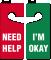 Need Help / I'm Okay Double-Sided Door Hanger