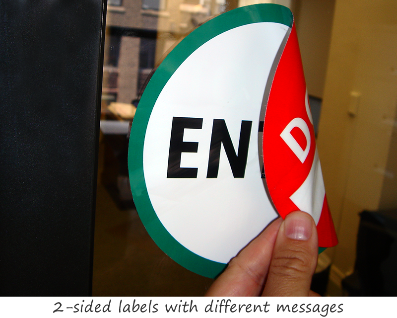Glass Door Labels Signs