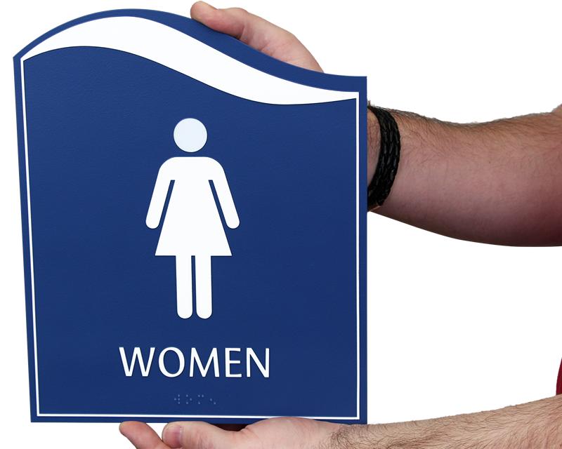 womens restoom signs ladies restroom signs