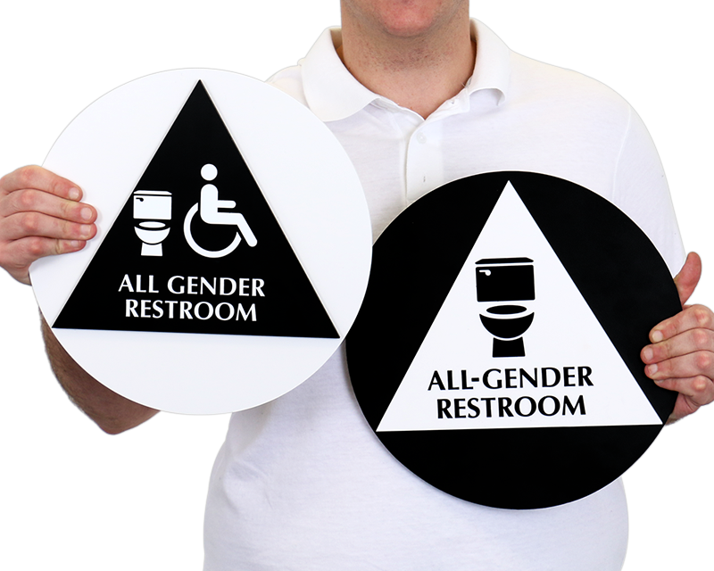 California All Gender Gender Neutral Restroom Door Wall Sign Kits