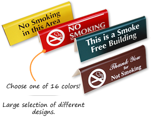 Tabletop Tent Signs No Smoking Signs  sc 1 st  MyDoorSign & Engraved u0026 Tabletop Tent Signs No Smoking Signs