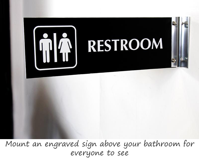 Engraved Restroom Signs