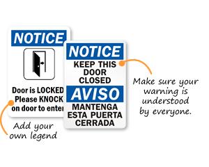 Keep Door Closed Signs Keep Door Closed Barricades