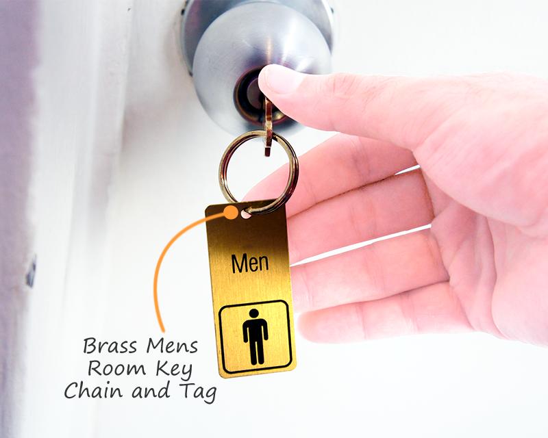 Engraved Bathroom Key Chains