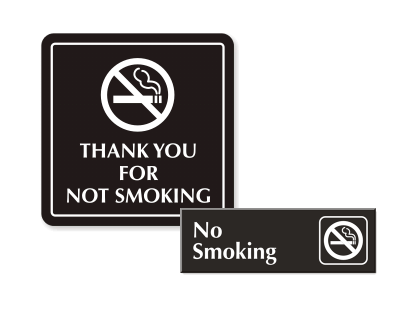 engraved tabletop tent signs no smoking signs