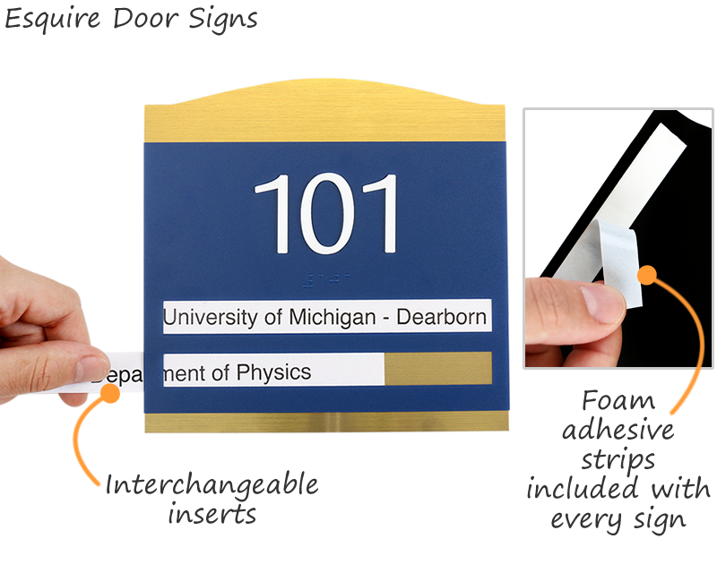 premium room number braille signs premium employee door - Office Door Signs