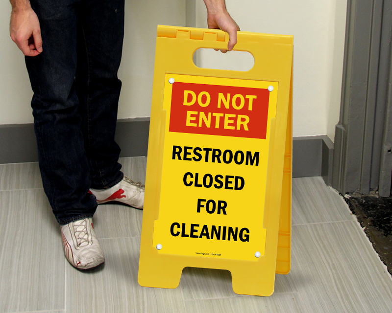 Restroom Closed For Cleaning Signs. Closed For Cleaning Signs