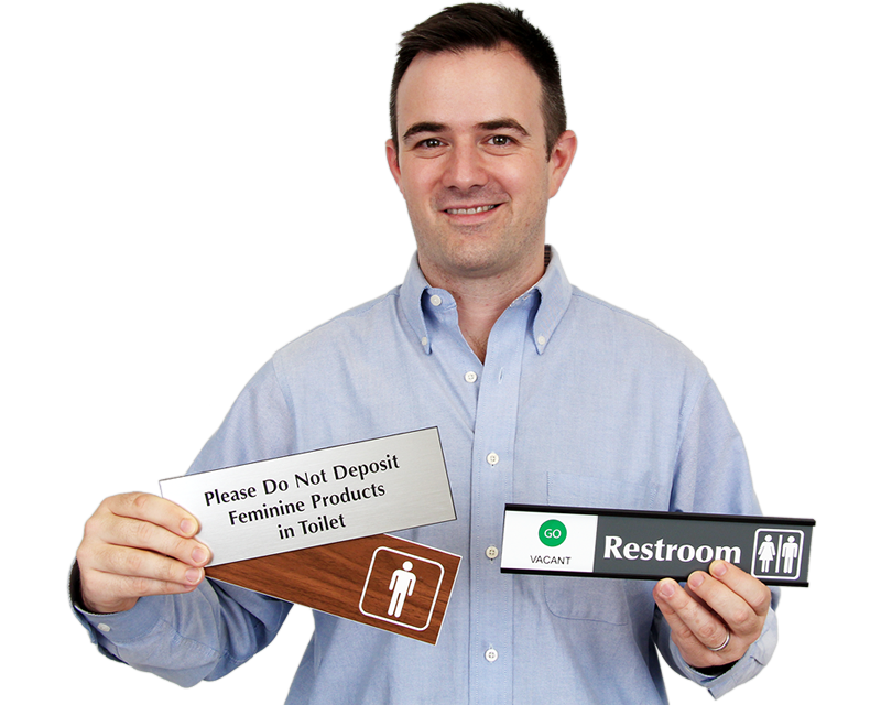 Bathroom Door Signs Vacant restroom signs | bathroom signs