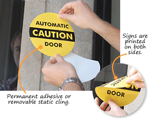 Automatic Door Signs  sc 1 st  MyDoorSign.com & Automatic Door Signs and Labels
