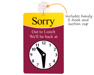picture relating to Will Return Sign Printable identified as Clock Symptoms Will Return Signs or symptoms
