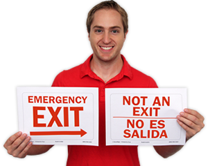 photograph regarding Printable Exit Signs named Cost-free Exit Indications Obtain PDF