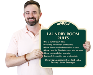 Help Keep Your Laundry Room Clean Showcase Wall Sign Sku