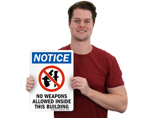 No Guns Signs | No Weapons Signs | No Firearms Signs