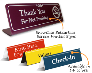 tabletop tent signs desktop signs counter signs