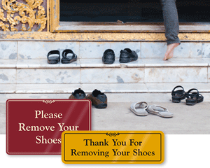 Please Remove Your Shoe Signs Take Off Your Shoe Signs