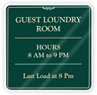 Laundry Room Hours Sign Laundry Signs  Laundry Room Signs
