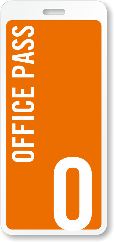 Office Pass Id For Schools Hall Pass With Letter O