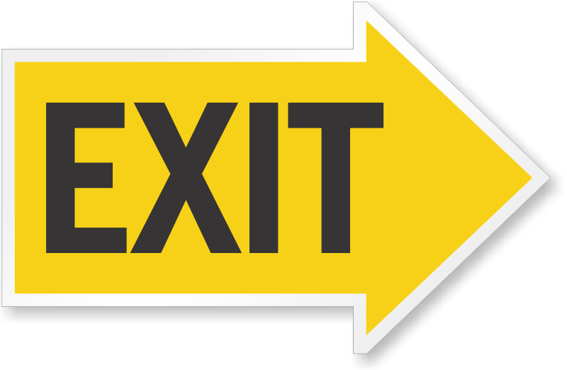 Directional Exit Signs With Arrows Free Pdf
