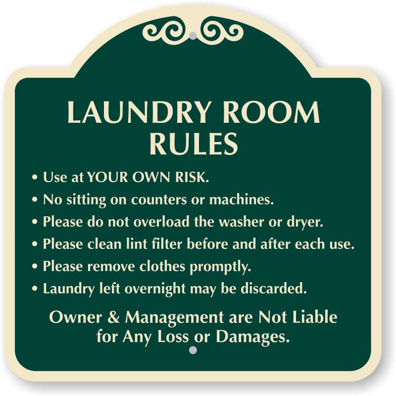 Laundry Room Rules Designer Sign Ships Fast Amp Free Sku