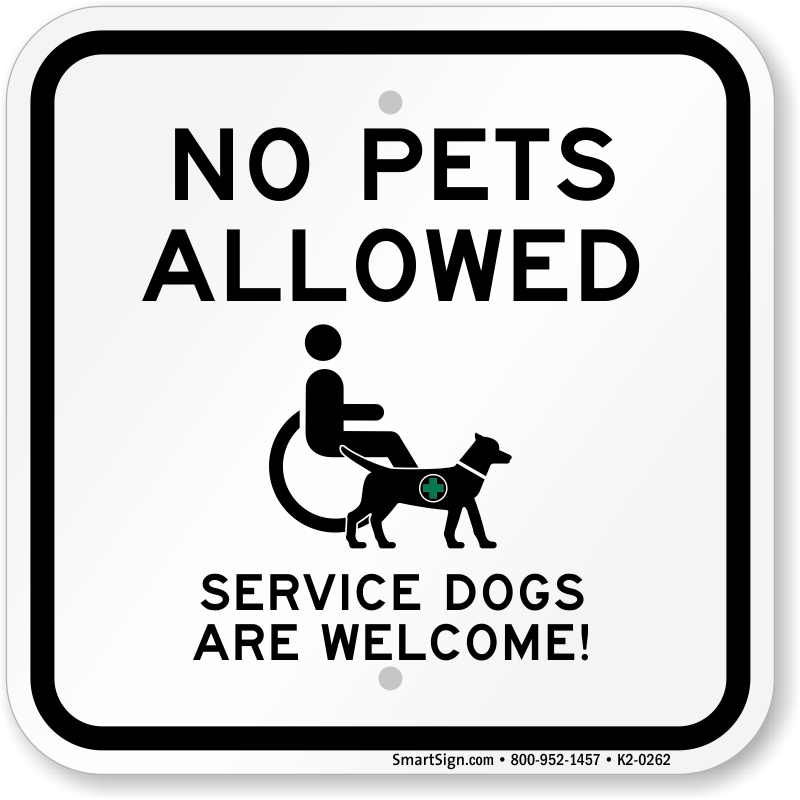 picture relating to No Pets Allowed Except Service Animals Sign Printable known as Support Canine Just Signs and symptoms -