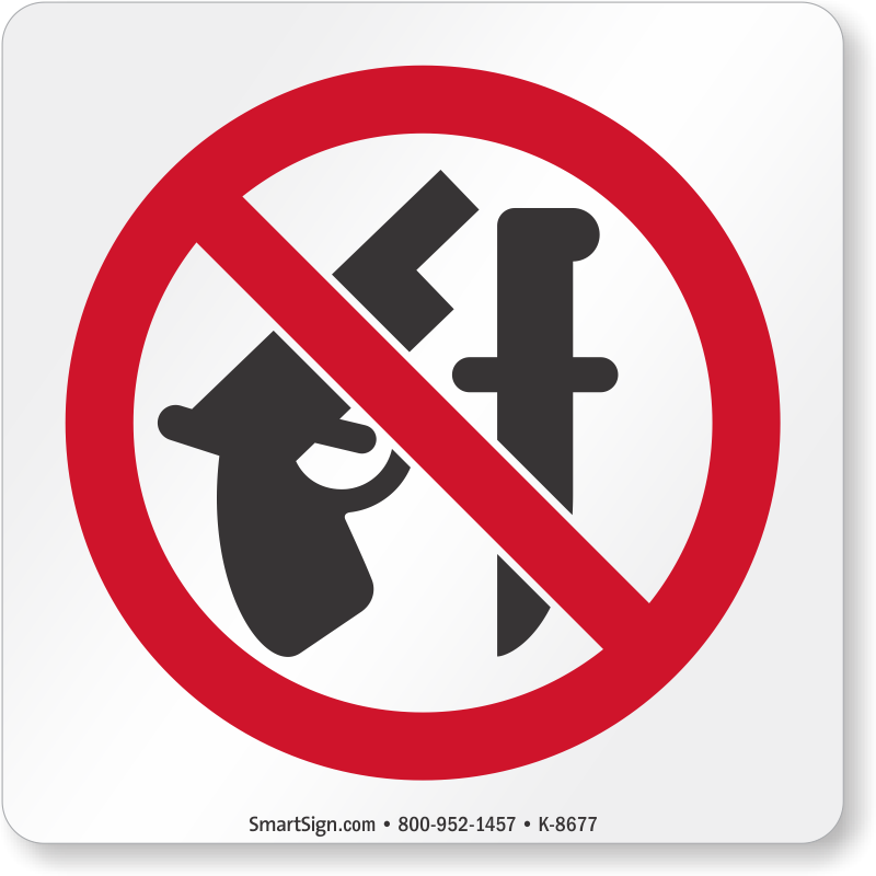 No Weapons Symbol Sign At Best Price Sku K 8677