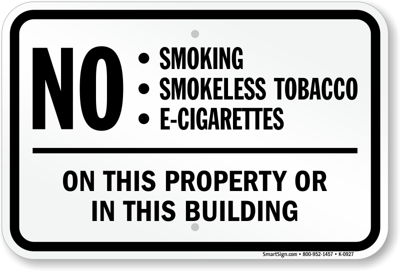 Electronic Cigarettes Prohibited Signs