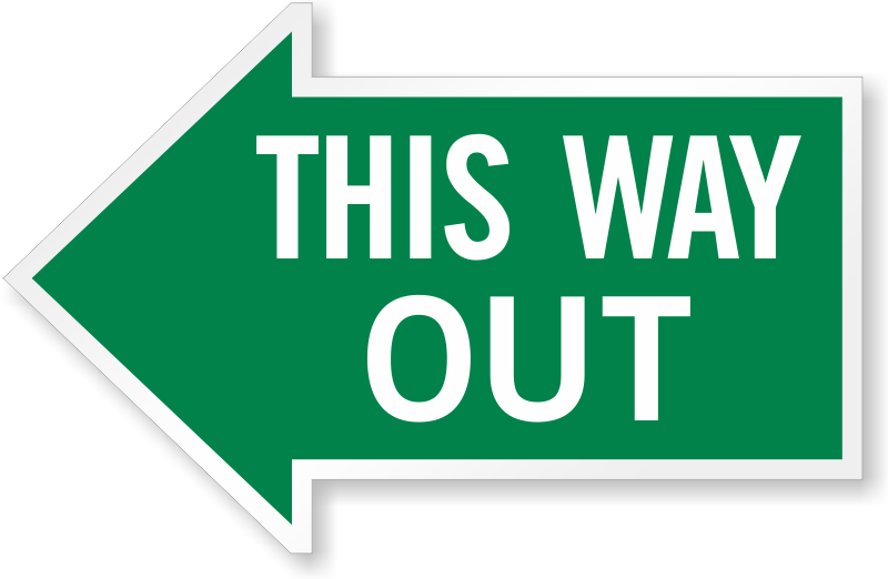 Bathroom Signs With Arrows this way out signs | exit signs | glow signs