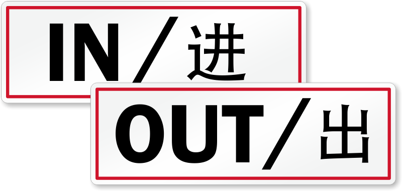 in out sign