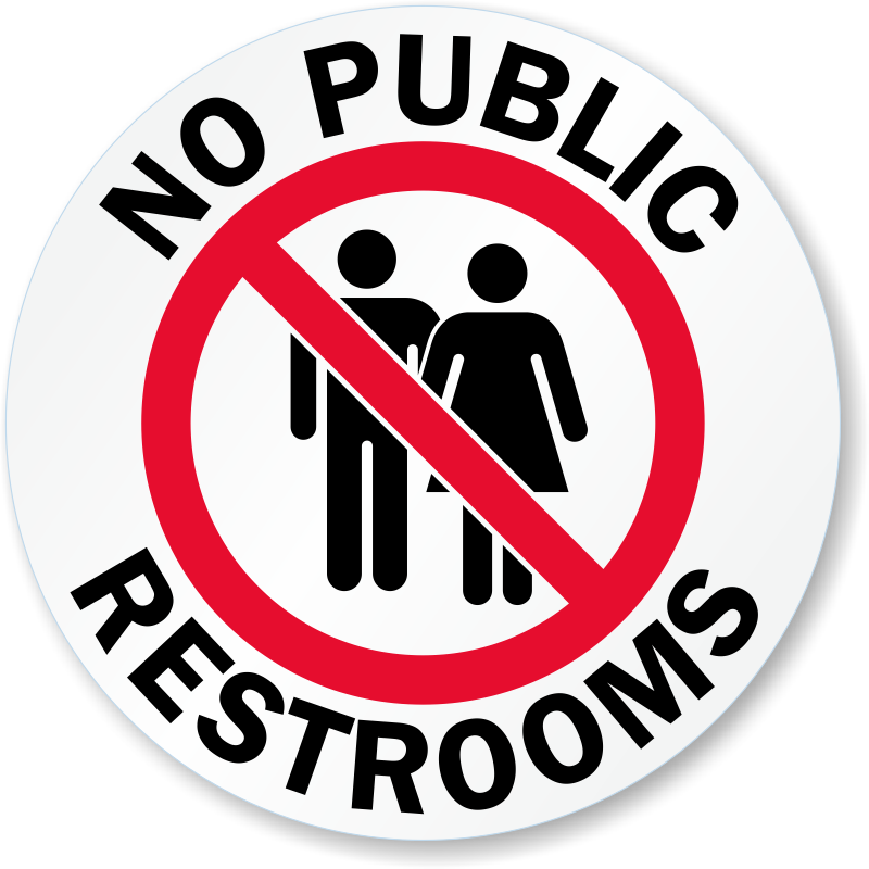 Bathroom Door Signs Vacant no public restroom signs