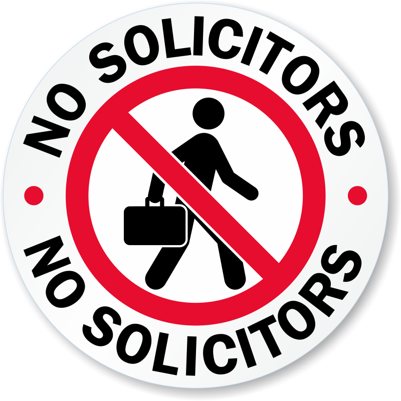 no soliciting door decals that work no excuses
