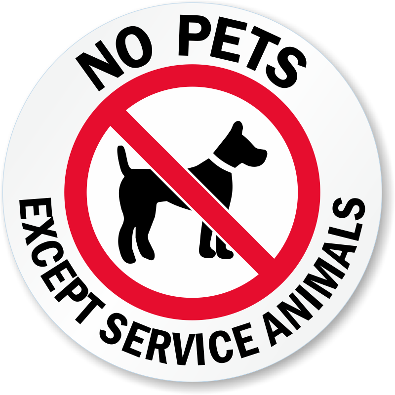 Refreshing image intended for no pets allowed except service animals sign printable