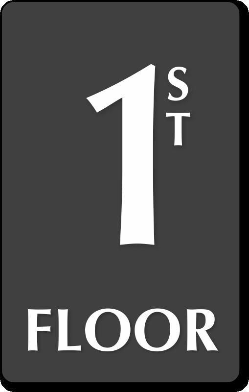 Floor Number Signs Braille Engraved Glow In Dark Stair