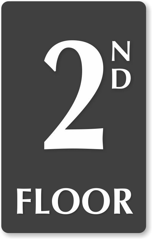 Floor number signs roof access re entry floor number for Floor 2nd