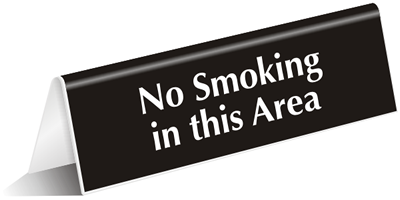 Engraved Amp Tabletop Tent Signs No Smoking Signs