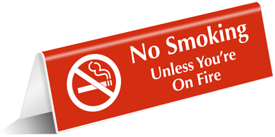 Zoom Price Buy  sc 1 st  MyDoorSign & Engraved u0026 Tabletop Tent Signs No Smoking Signs