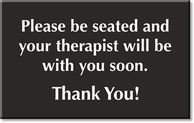 therapists signs therapy room signs