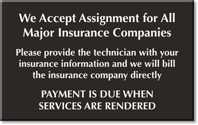 Image result for sign at doctors office must have insureance