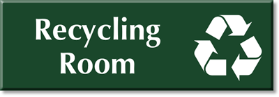 recycling room signs braille engraved trash room signs