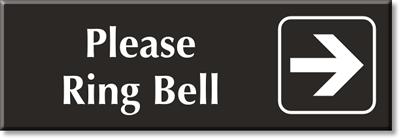 Use Doorbell If Door Is Locked Sign