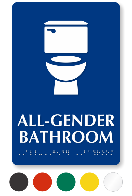 All Gender Restroom Signs Gender Neutral Restroom Signs