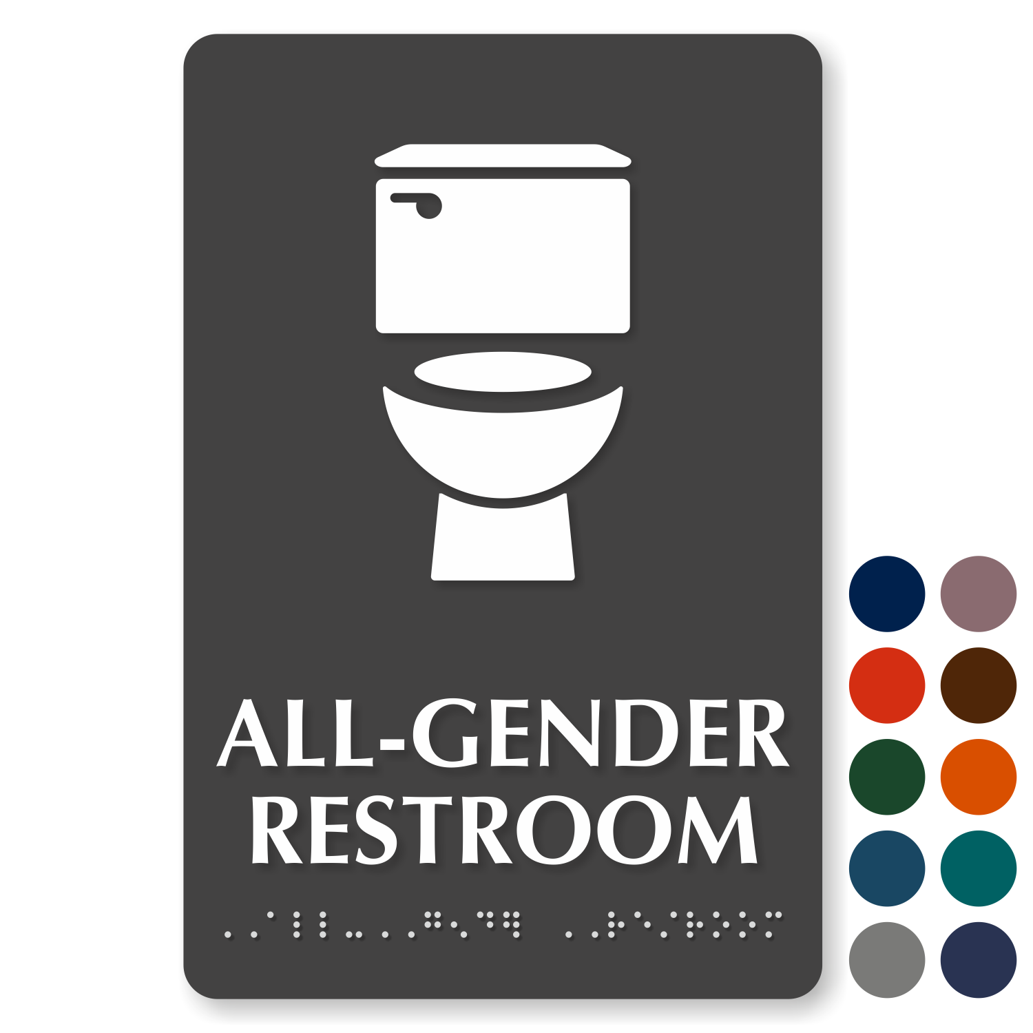 AllGender Restroom Signs Gender Neutral Restroom Signs Simple Unisex Bathroom Signs