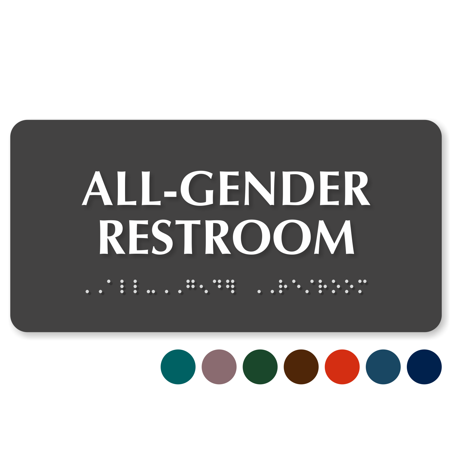 Bathroom Signs Braille all-gender restroom signs | transgender restroom signs