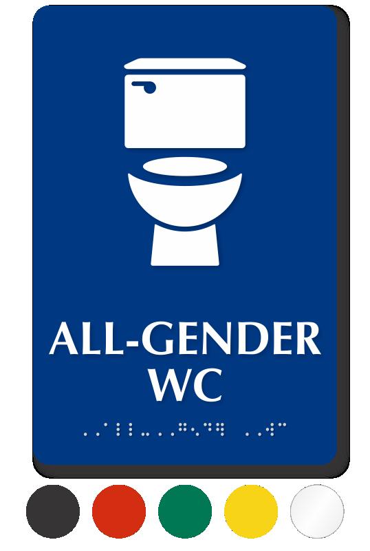 all gender bathroom toilet signs