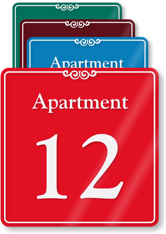 Apartment Number Signs   Apartment Letter Signs