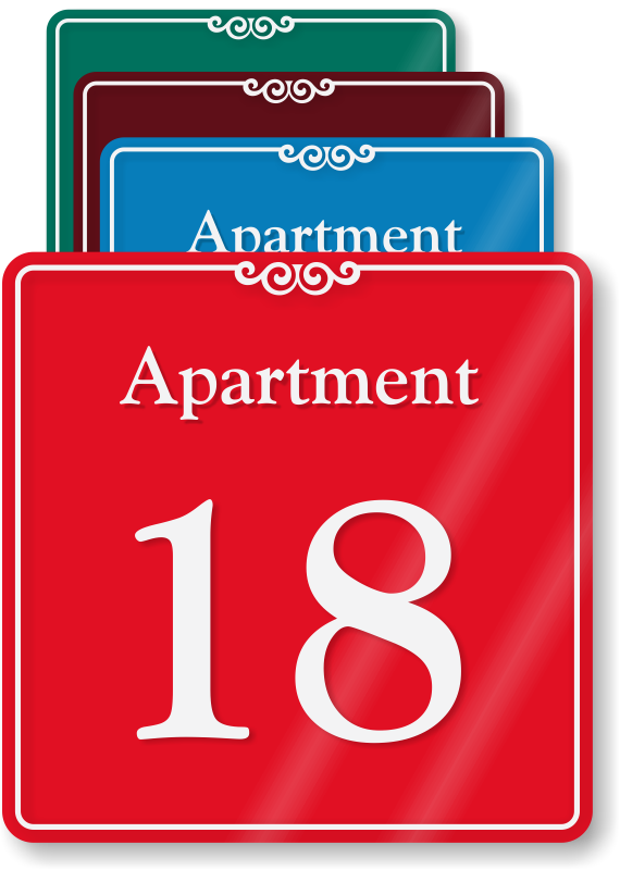 Apartment Number Signs | Apartment Letter Signs